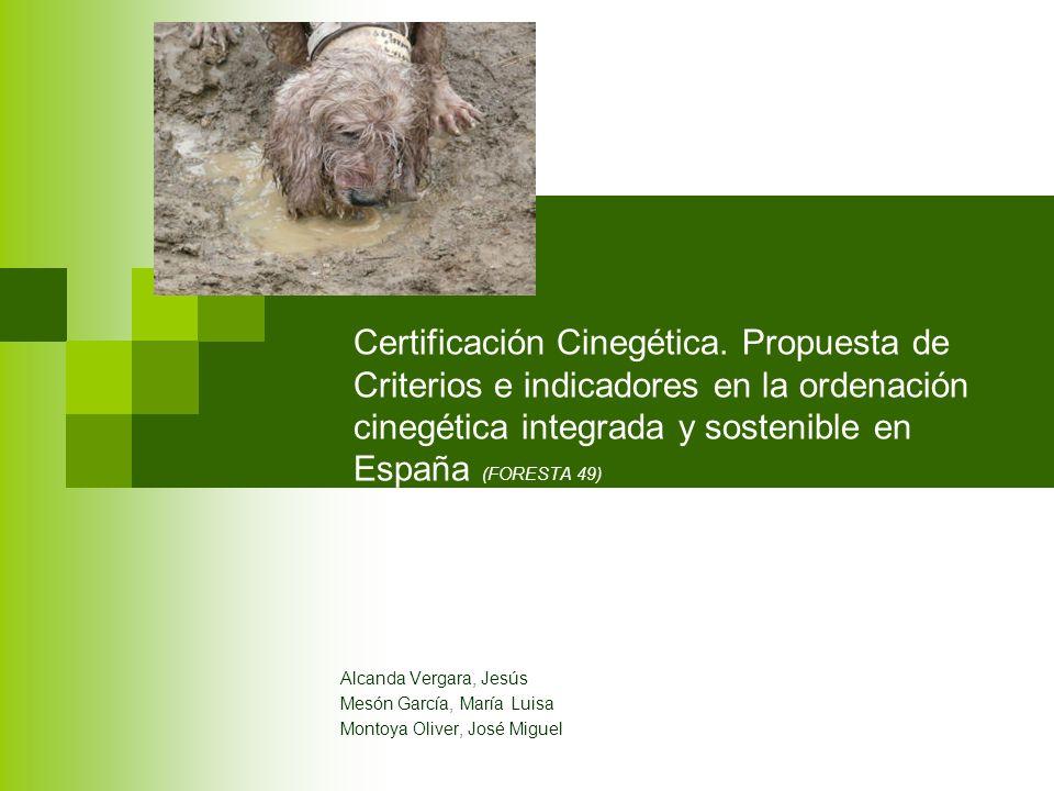 Certificación Cinegética