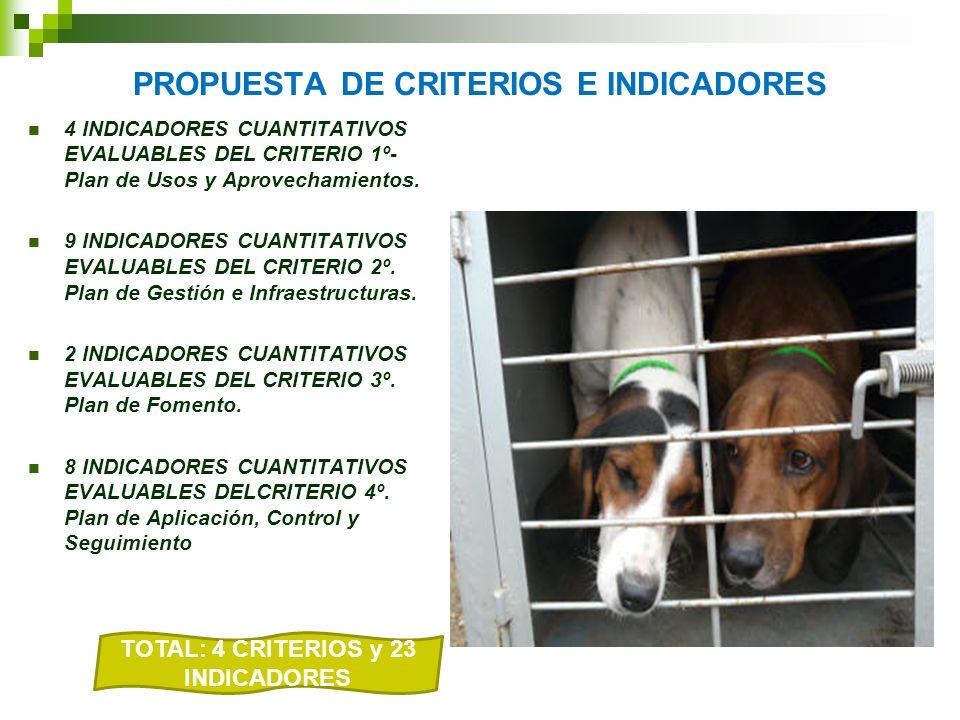 PROPUESTA DE CRITERIOS E INDICADORES