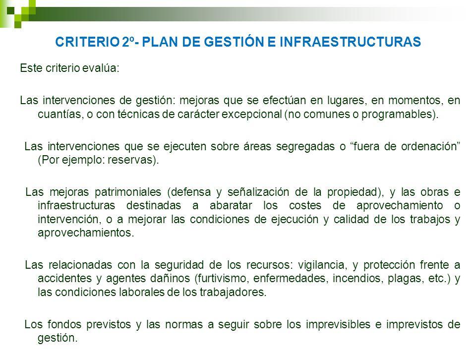 CRITERIO 2º- PLAN DE GESTIÓN E INFRAESTRUCTURAS