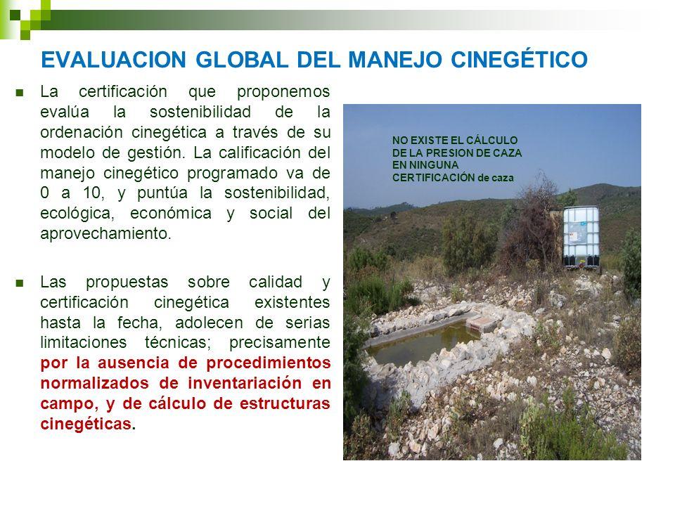 EVALUACION GLOBAL DEL MANEJO CINEGÉTICO