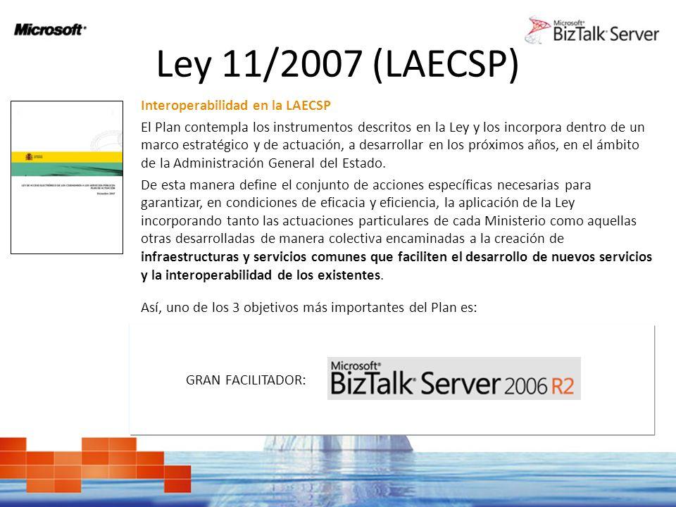 Ley 11/2007 (LAECSP) Interoperabilidad en la LAECSP