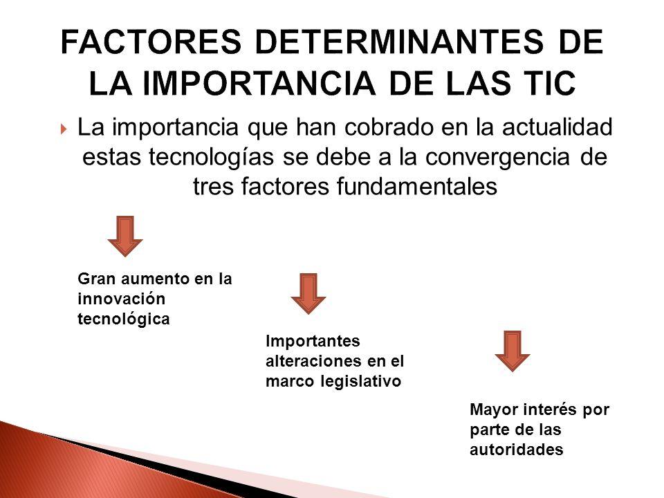 FACTORES DETERMINANTES DE LA IMPORTANCIA DE LAS TIC