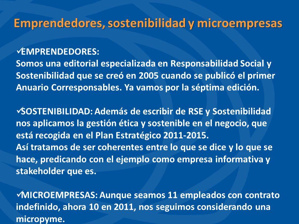 Emprendedores, sostenibilidad y microempresas