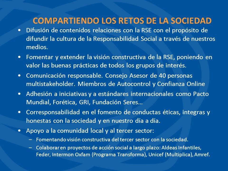 COMPARTIENDO LOS RETOS DE LA SOCIEDAD