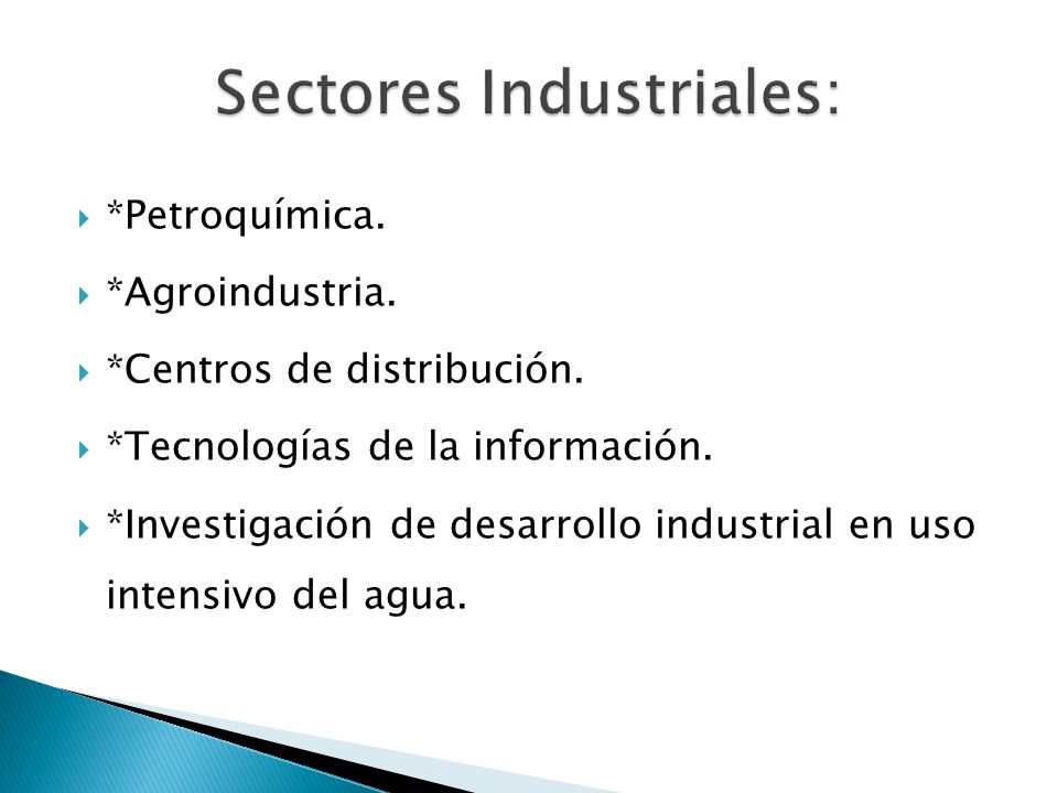 Sectores Industriales: