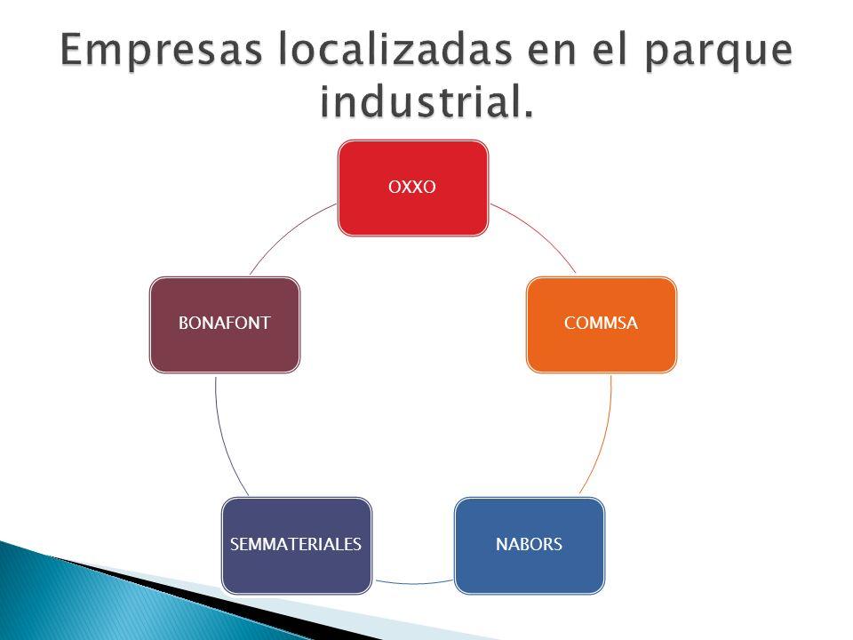 Empresas localizadas en el parque industrial.