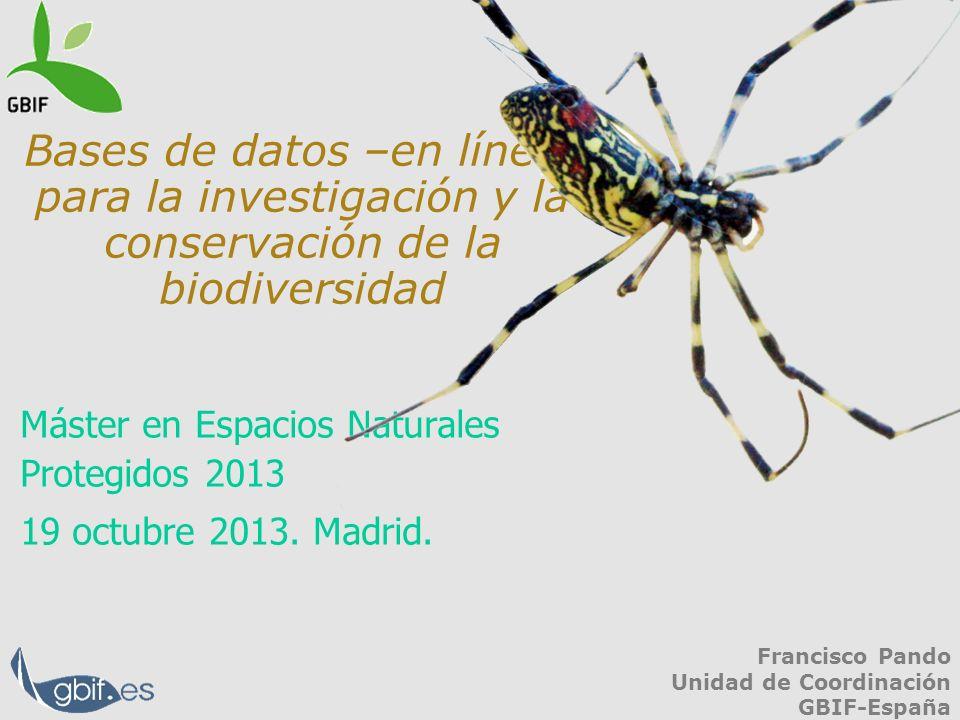 Máster en Espacios Naturales Protegidos 2013 19 octubre 2013. Madrid.