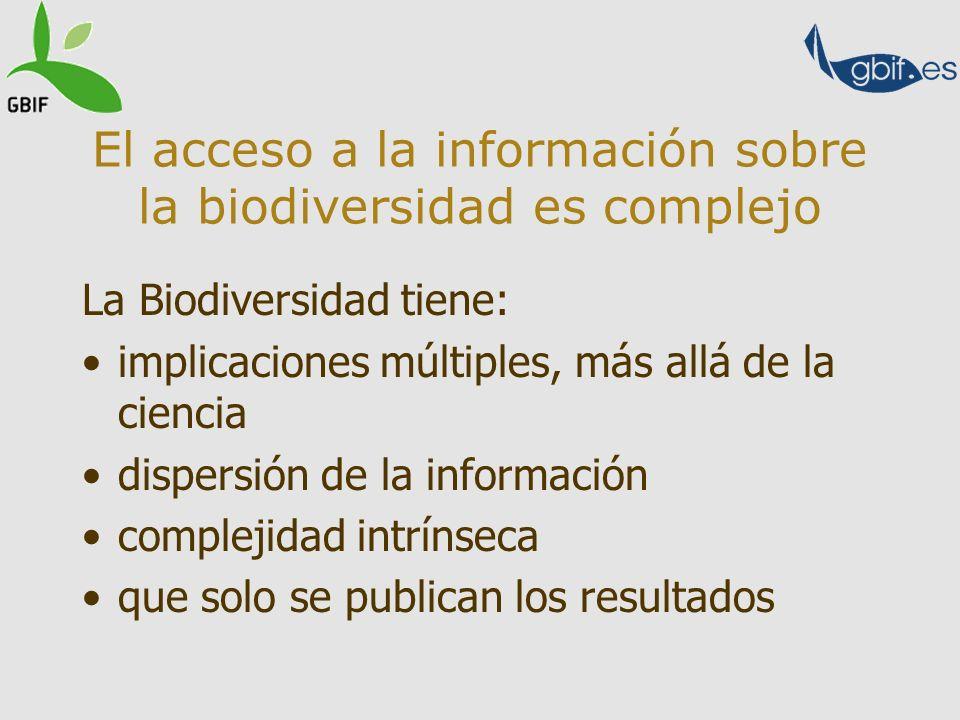 El acceso a la información sobre la biodiversidad es complejo