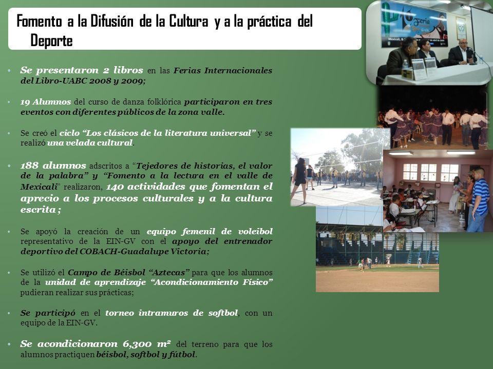 Fomento a la Difusión de la Cultura y a la práctica del Deporte