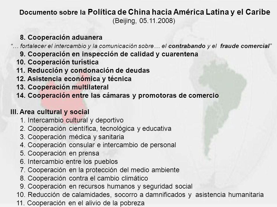 Documento sobre la Política de China hacia América Latina y el Caribe