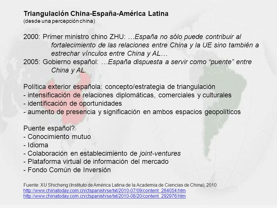 Triangulación China-España-América Latina