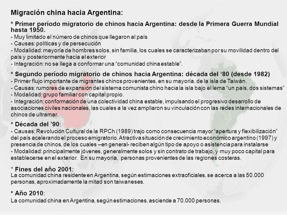 Migración china hacia Argentina: