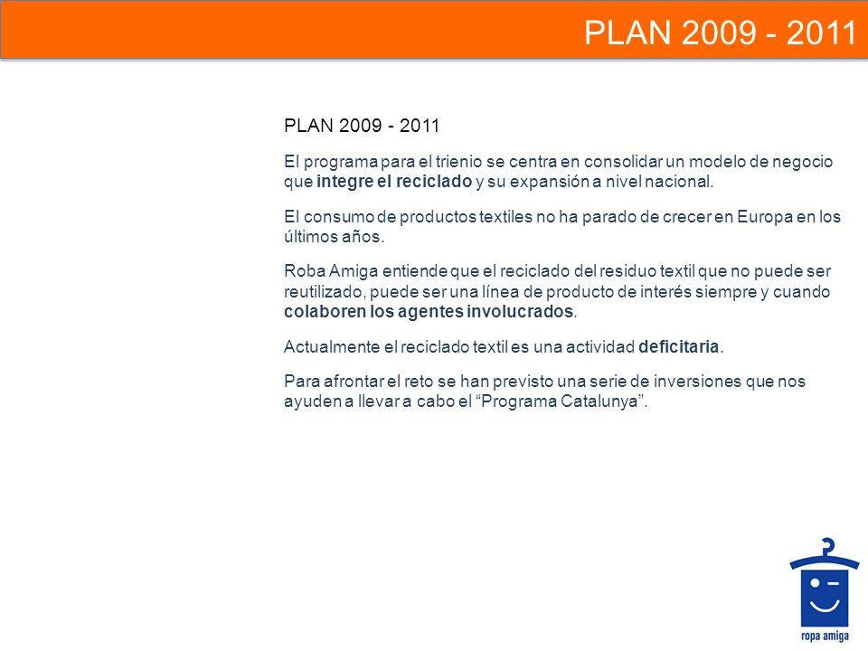 PLAN 2009 - 2011 PLAN 2009 - 2011.