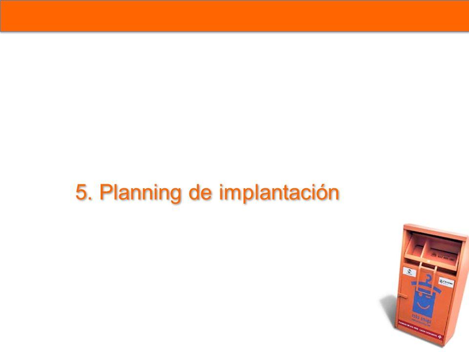 5. Planning de implantación