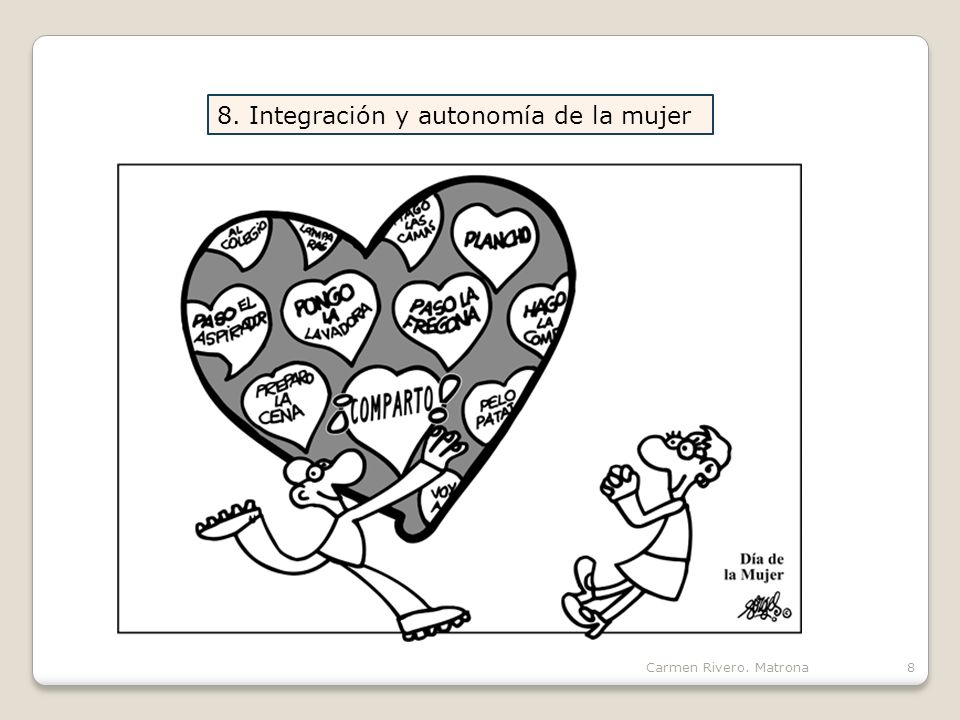 8. Integración y autonomía de la mujer
