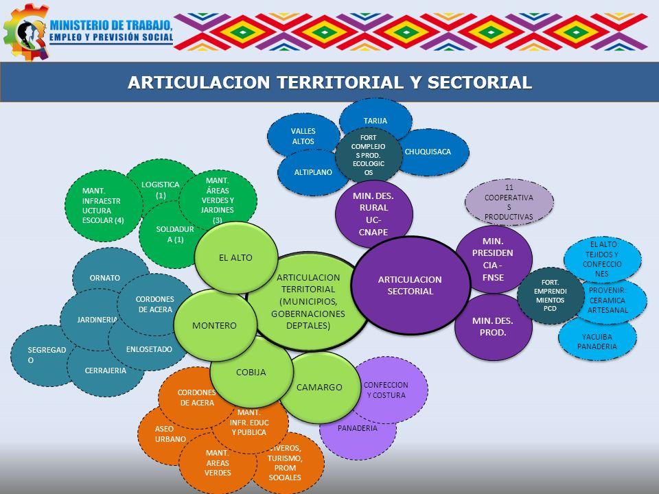 ARTICULACION TERRITORIAL Y SECTORIAL