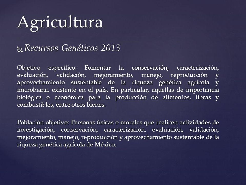 Agricultura Recursos Genéticos 2013