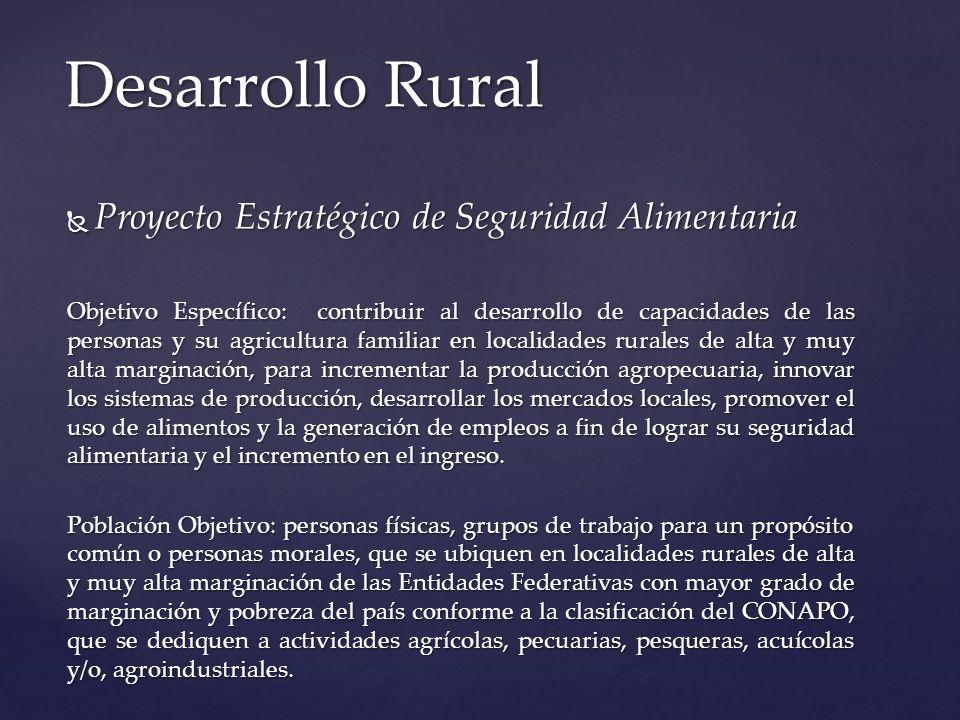 Desarrollo Rural Proyecto Estratégico de Seguridad Alimentaria