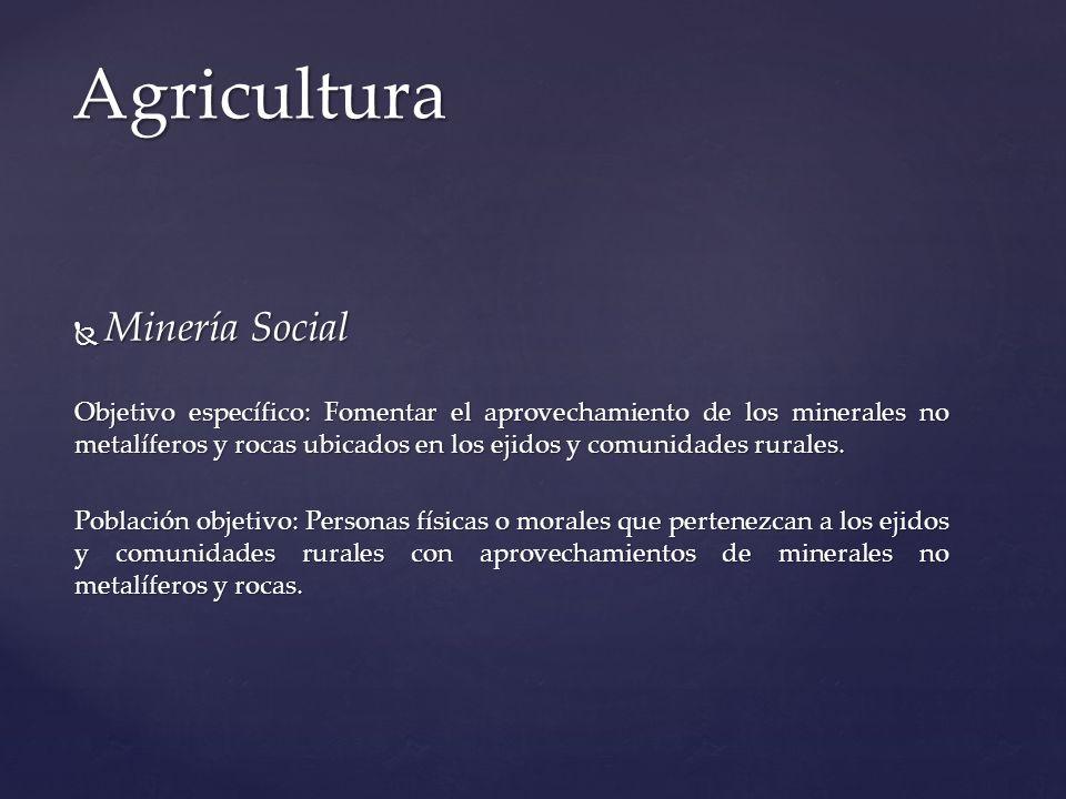 Agricultura Minería Social