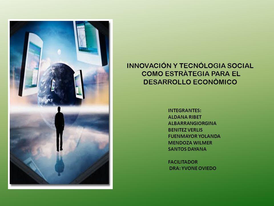 INNOVACIÓN Y TECNÓLOGIA SOCIAL