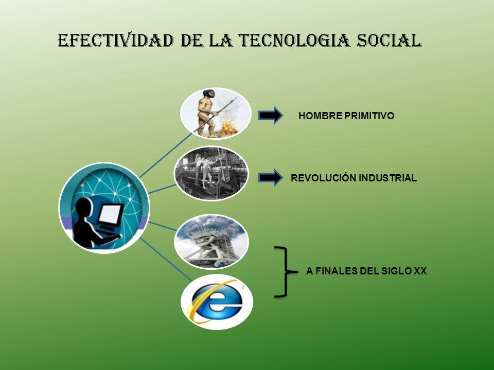 EFECTIVIDAD DE LA TECNOLOGIA SOCIAL
