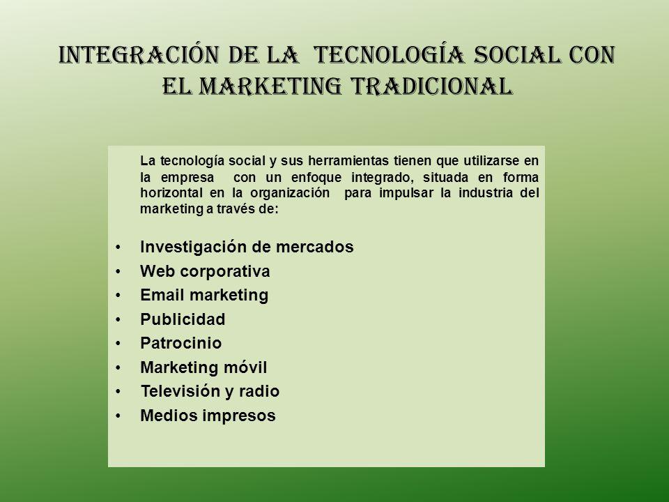 INTEGRACIÓN DE LA Tecnología Social con el marketing tradicional