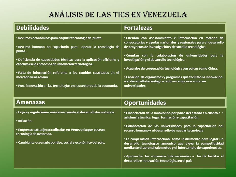 Análisis de las tics en Venezuela