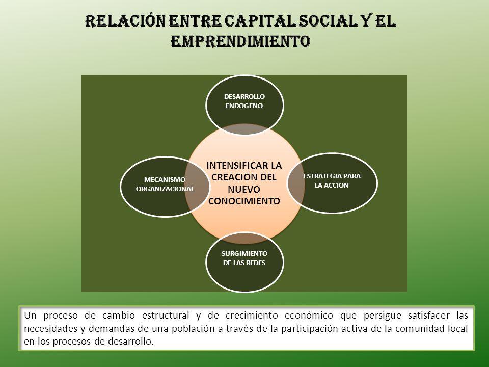 Relación entre Capital Social y el Emprendimiento