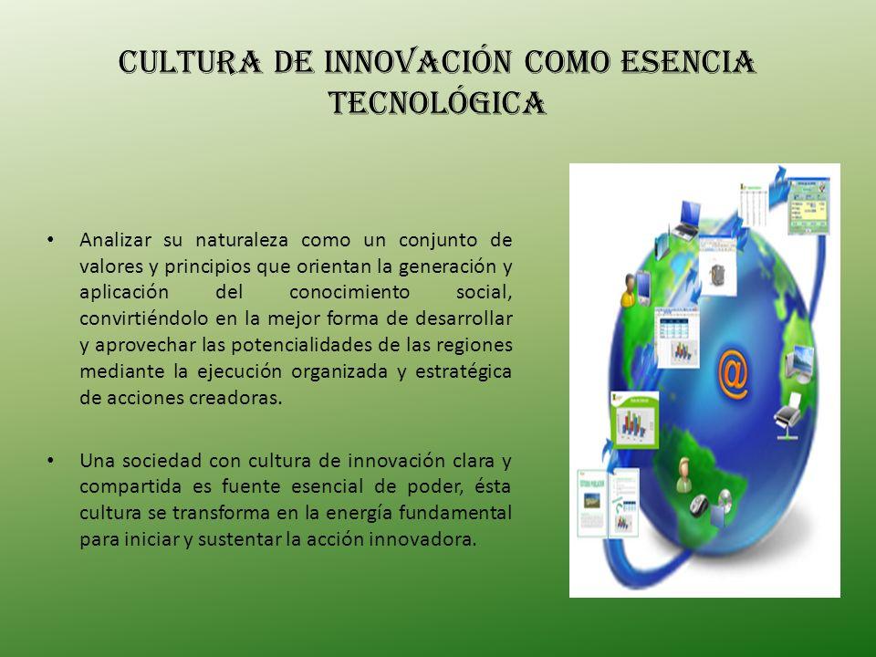 CULTURA de innovación como esencia tecnológica