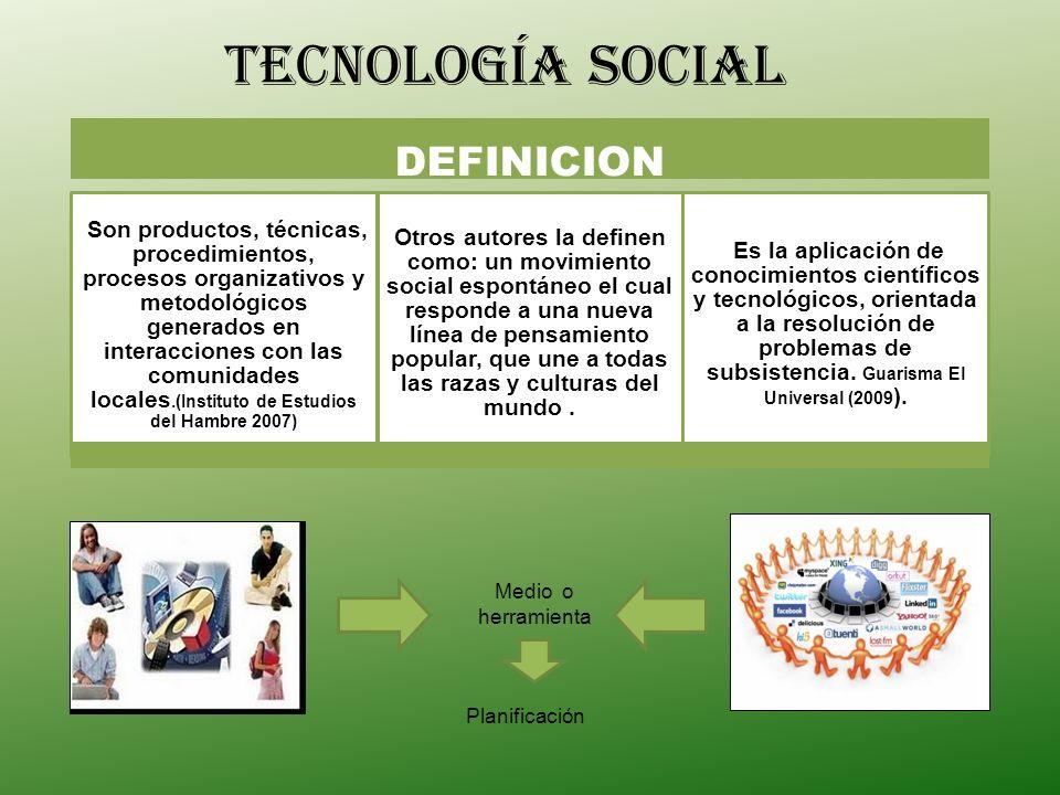 tecnología SOCIAL DEFINICION