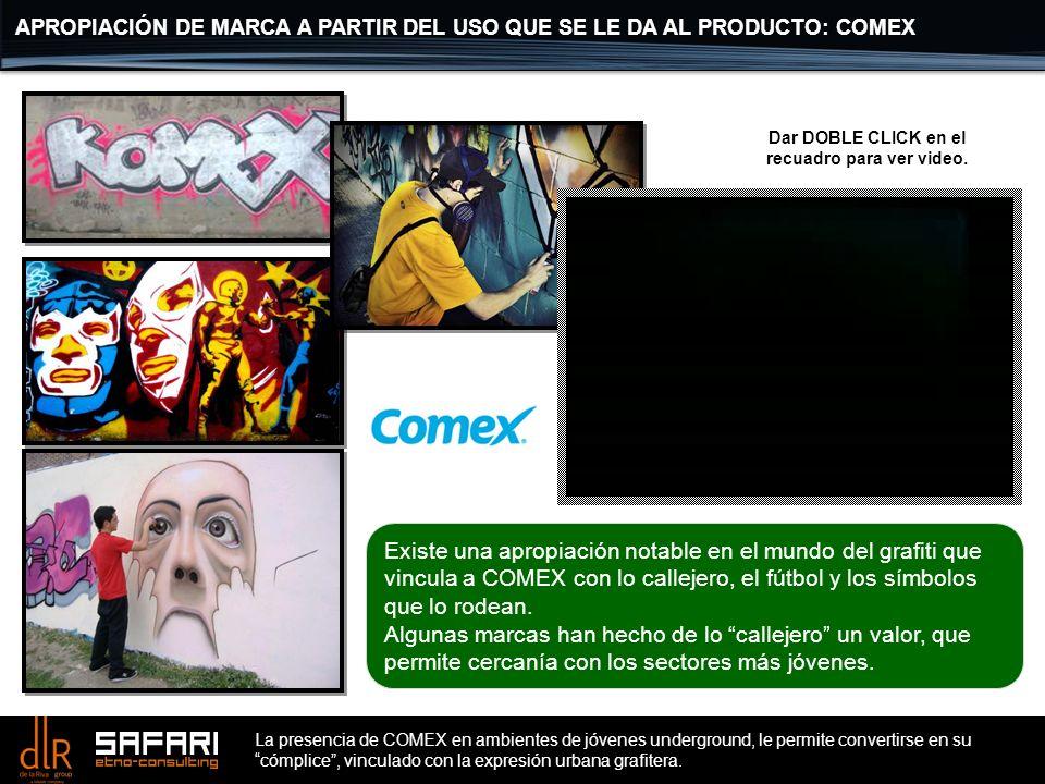 APROPIACIÓN DE MARCA A PARTIR DEL USO QUE SE LE DA AL PRODUCTO: COMEX