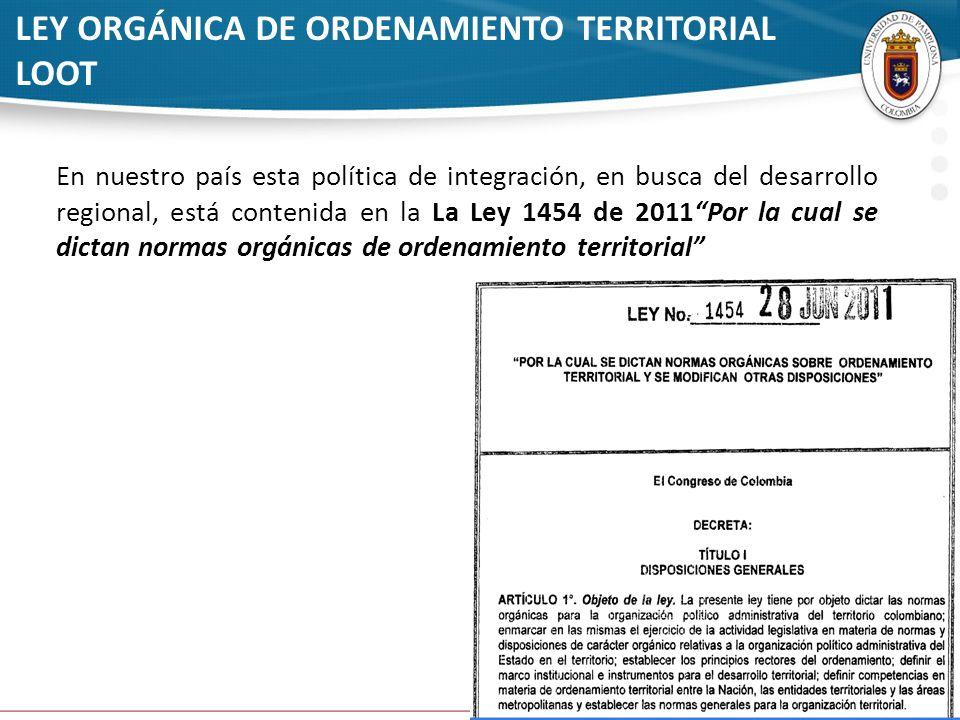 LEY ORGÁNICA DE ORDENAMIENTO TERRITORIAL LOOT
