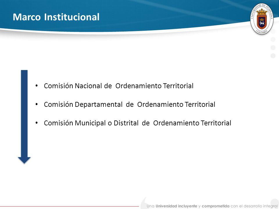 Marco Institucional Comisión Nacional de Ordenamiento Territorial