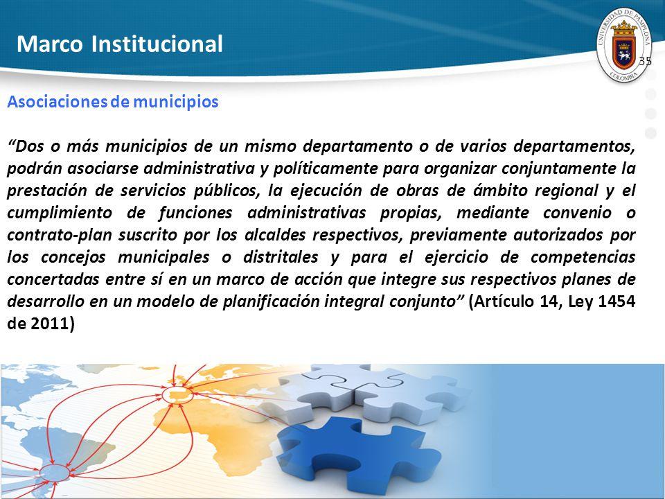 Marco Institucional Asociaciones de municipios