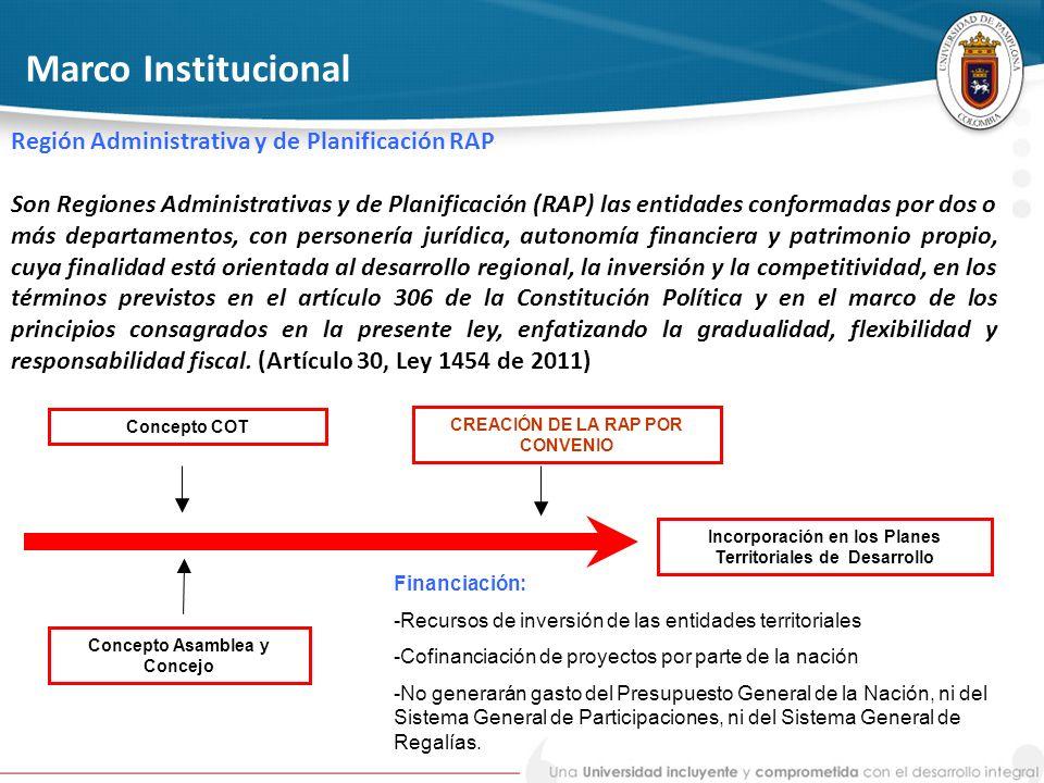 Marco Institucional Región Administrativa y de Planificación RAP