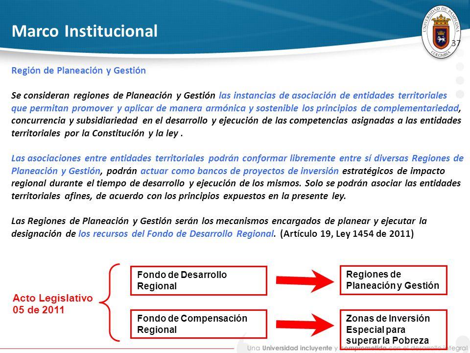 Marco Institucional Región de Planeación y Gestión