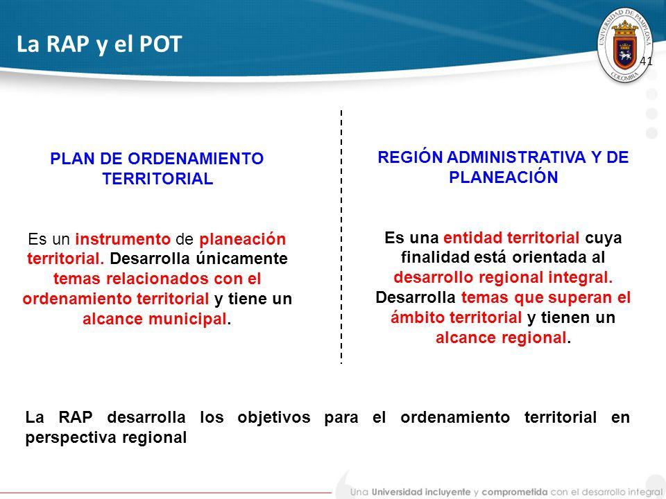 PLAN DE ORDENAMIENTO TERRITORIAL REGIÓN ADMINISTRATIVA Y DE PLANEACIÓN