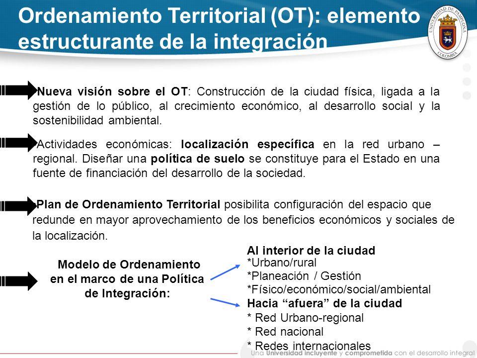 Modelo de Ordenamiento en el marco de una Política de Integración: