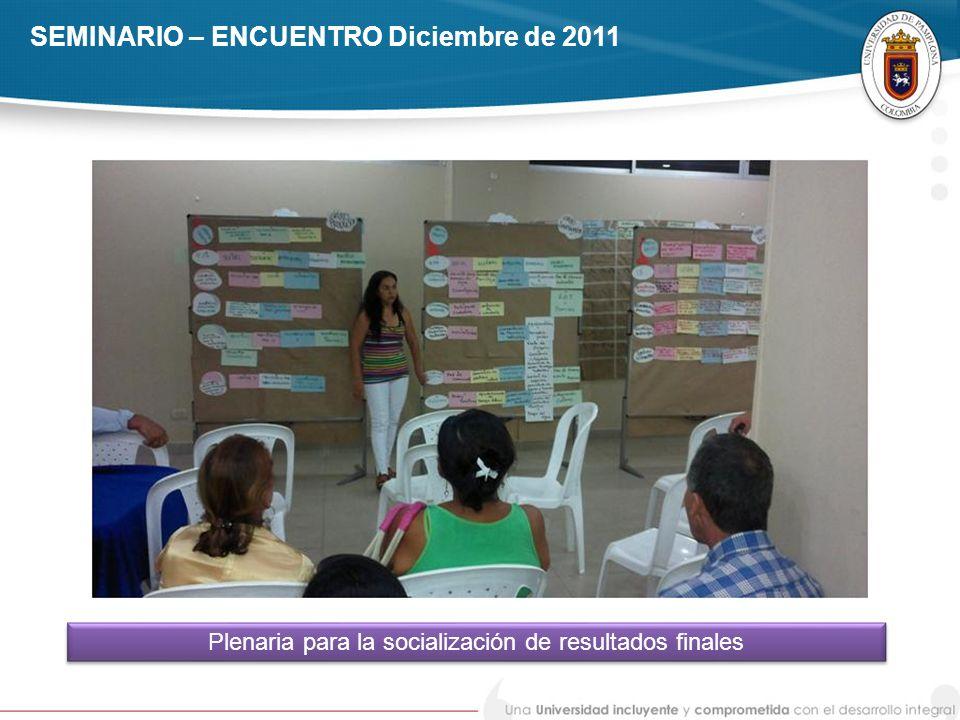 SEMINARIO – ENCUENTRO Diciembre de 2011