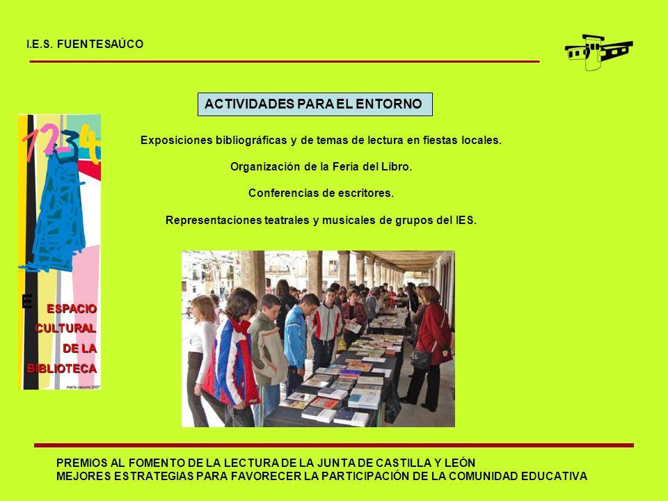 E ACTIVIDADES PARA EL ENTORNO I.E.S. FUENTESAÚCO