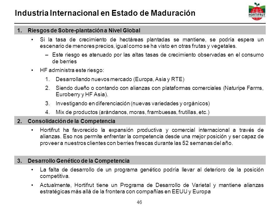 Industria Internacional en Estado de Maduración