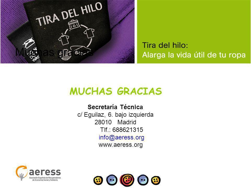 Muchas gracias MUCHAS GRACIAS Secretaría Técnica