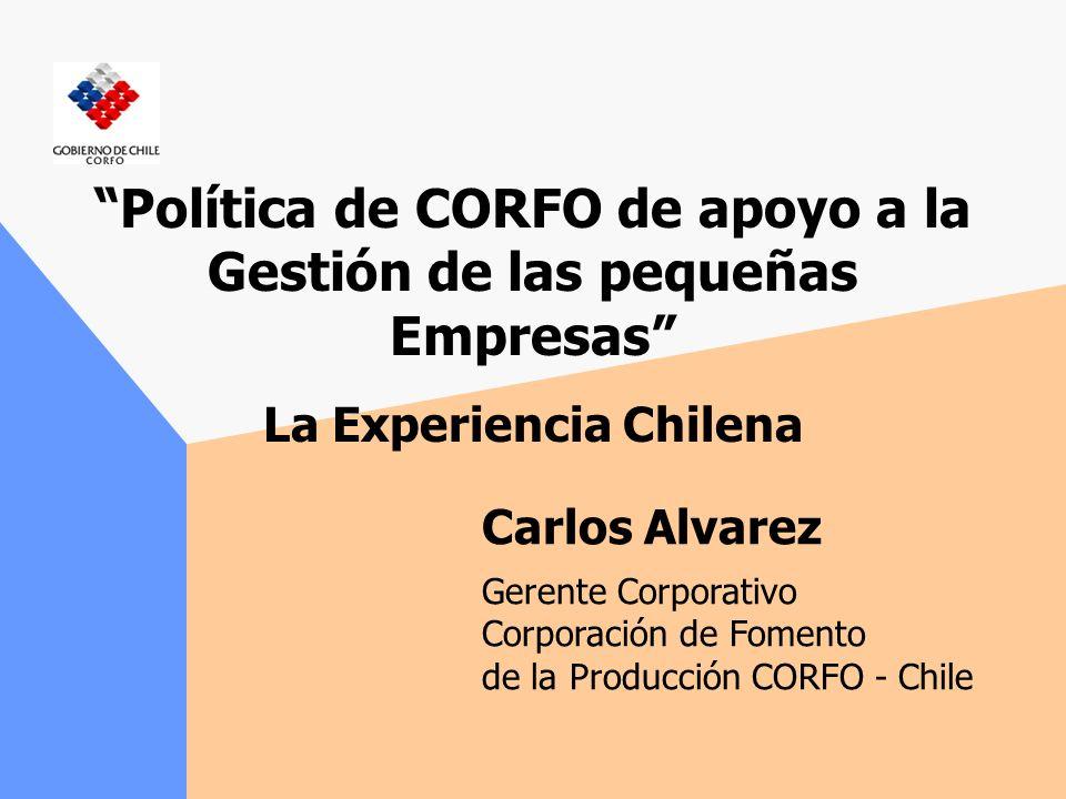 Política de CORFO de apoyo a la Gestión de las pequeñas Empresas La Experiencia Chilena