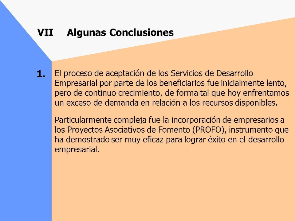VII Algunas Conclusiones