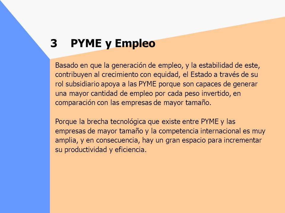 3 PYME y Empleo