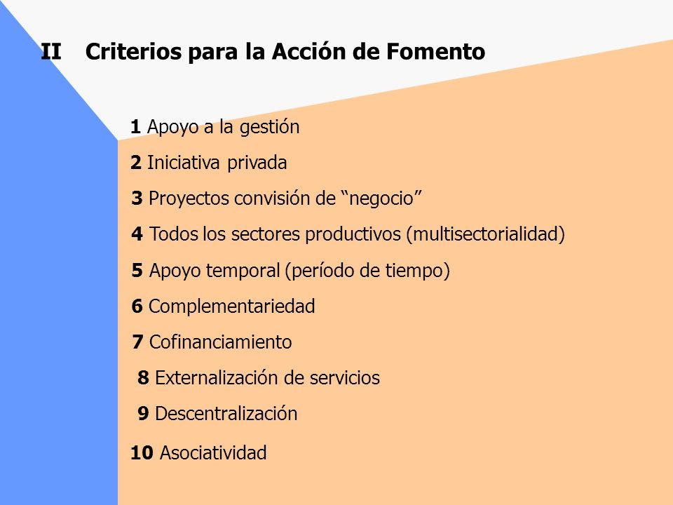 II Criterios para la Acción de Fomento