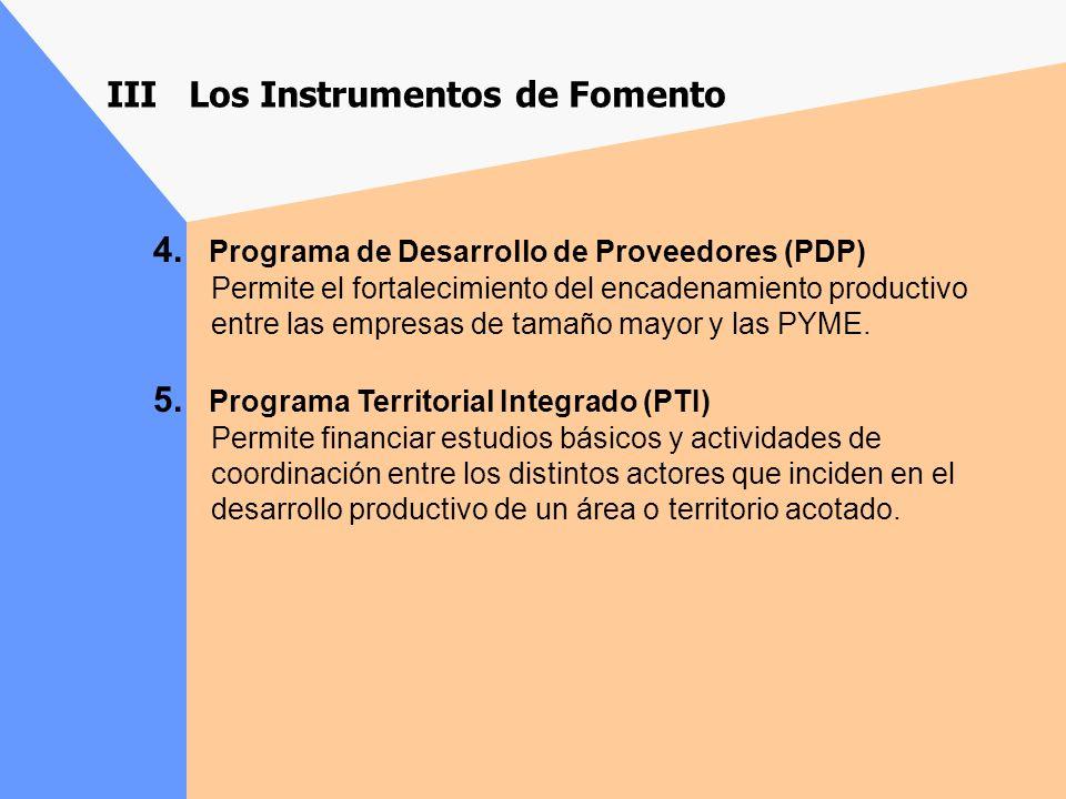III Los Instrumentos de Fomento