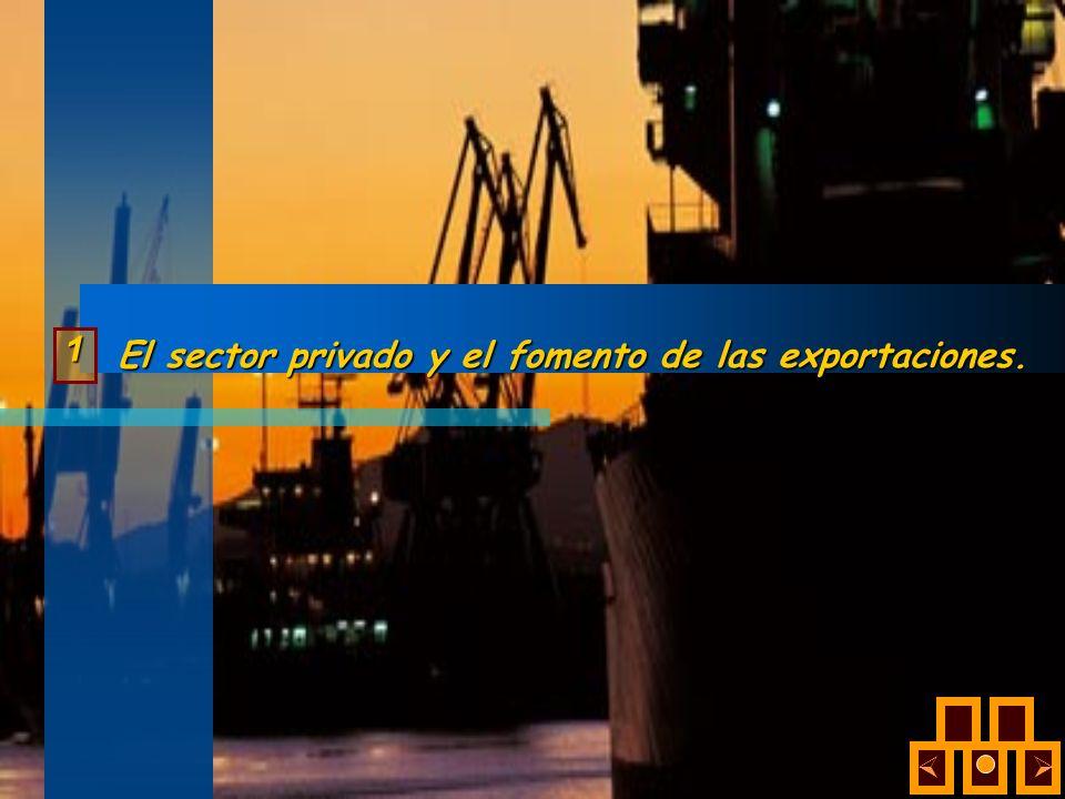 El sector privado y el fomento de las exportaciones.