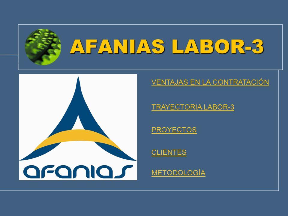 AFANIAS LABOR-3 VENTAJAS EN LA CONTRATACIÓN TRAYECTORIA LABOR-3