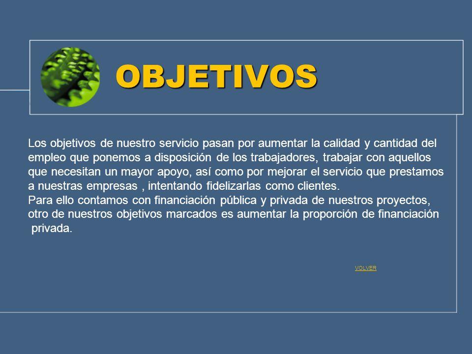 OBJETIVOS Los objetivos de nuestro servicio pasan por aumentar la calidad y cantidad del.